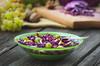 Salad (Inka56) Tags: salad vegetariansalad vegetables vegetarian woodtable bowl grapes walnuts apple appetizing redcabbage cabbage 7dwf macroorcloseup hbw