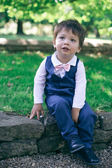 Jasper, Page boy (Michael and Jess) Tags: weddingceremony weddingguests wedding kid child boy pageboy cute small sunny eastingtonpark bowtie suit waistcoat outfit