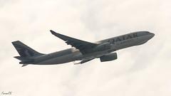 Qatar Cargo A330 (A7-AFJ) departing VAAH (faram.k) Tags: a330 a7afj airbus aircraft backlight cargo condensation freighter jet qatarairways ahmedabad gujarat india in