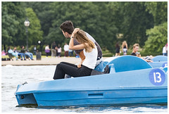 Pedalo - Waiting for Rescue (theimagebusiness) Tags: theimagebusinesscouk theimagebusiness photography location london city travel tourism sightseeing life observation citylife cityculture citycentre capital capitalcity metropolis metropolitan people pretty women candid street streetphotography momentintime freedom society uk urban visitorattractions unposed publicspace inpublic publicplace daily boat boating pedalo boatinglake restaurant stuck rescue givenup hydepark centrallondon nikon