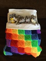 #Share FlickrFriday (Martellotower) Tags: share flickrfriday mice rainbow sleep bed pillow teddy bear