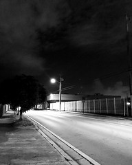 What's going on in that beautiful mind? (santoscinderella) Tags: late mind dark walk run road street lights afterdark black white blackandwhite trees nature city miami florida shot photography iphone sky grey alone solo mystery explore creepy careful
