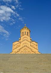 Trinity Cathedral (Poria) Tags: church building old arc arch architecture architectural architect city urban travel georgia tbilisi sky trinity cathedral