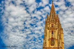 Catedral Oviedo (alanchanflor) Tags: aguja gótico nubes oviedo asturias azul españa canon blue arquitectura monumento catedral
