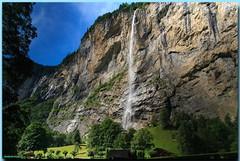 Cascade Staubbachfall - Lauterbrunnen (Oberland Bernois) (jamesreed68) Tags: lauterbrunnen suisse oberland bernois mountain waterfall staubbach nature eau chute cascade paysage schweiz canon eos 600d alpes