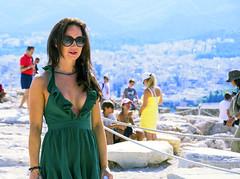 A Greek Godess (Bob (sideshow015)) Tags: cruise olympus athens greece nikon 7100 lovely woman belle bella acropolis vert green beauty bellebella