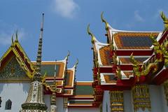 Bangkok, Thailand (spideysmom10) Tags: thailand temple bangkok watpho chofas roof seasia southeastasia wat