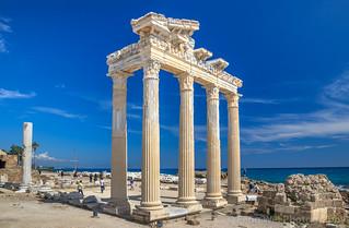 Ruins Of The Temple of Apollo, Side, Antalya, Turkey