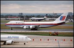 N161UA - London Heathrow (LHR) 27.07.1993 (Jakob_DK) Tags: 1993 boeing boeing747 747 b747 747200 jumbo jumbojet 747200b lhr egll heathrow londonheathrow ua ual united unitedairlines