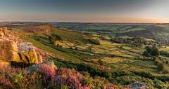 Evening at Curbar Gap (Peter Quinn1) Tags: curbaredge curbargap derbyshire peakdistrict darkpeak sunset heather evening moorland calver riverderwent derwentvalley