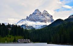 Lago e Tre Cime (luca2142) Tags: lagodimisurina veneto italia italy dreizinnen trecimedilavaredo alpi alps dolomiti dolomites dolomiten misurina neve snow nevefresca