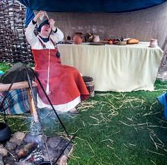 Viking Village 12 (allybeag) Tags: largs vikingvillage crafts historical reenactment spinning wool