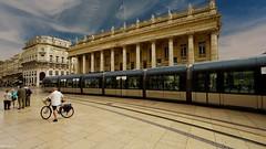 Tramway Bordeaux (YᗩSᗰIᘉᗴ HᗴᘉS +8 000 000 thx❀) Tags: tram tramway bordeaux town city cityscape sky france hensyasmine architecture