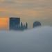 Cloud City (Brad Truxell) Tags: pittsburgh hdr exposureblending city fog buildings sunrise dawn nikond7000