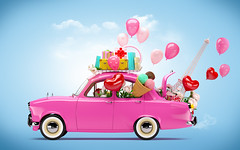 Car of love (noor.khan.alam) Tags: vintage car love romantic baloons automobile valentine paris background vehicle auto icecream flowers inlove february cute funny couple present valentinesday shape decoration symbol celebration red color date holiday day summer white happy heart people beautiful romance pink transport travel retro style bright vibrant unusual illustration collage blue art creative decign russianfederation