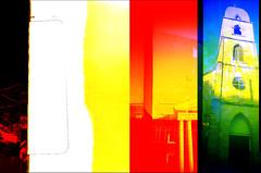 [ - artifacts - ] (ǝlɐǝq ˙M ʍǝɥʇʇɐW) Tags: supersampler colors start end roll 35mm film analogue red oddity multipleexposure texas church science wtf