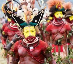 huli wigmen marchin in 2 (kthustler) Tags: goroka singsing papuanewguinea tribes huliwigmen mudmen