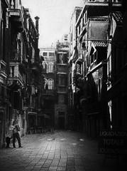 Accordion player (www.streetphotography-berlin.com) Tags: venice italy city street streetphotography streetmusicians melancholi accordion player blackandwhite blackwhite impressionist impressionism alone