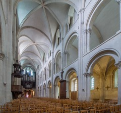 Nave (haberlea) Tags: france abbeyofsaintétienne church abbey architecture nave norman medieval romanesque interior caen normandy