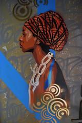 Diversity is hope (HBA_JIJO) Tags: streetart urban graffiti pochoir stencil paris art france artist hbajijo wall mur painting aerosol peinture murale spray pochoiriste woman bombing urbain girl black rehab2 femma