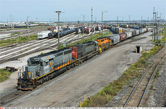QGRY6908_GEXR3054_3394GB_VaughanON_040917 (Catcliffe Demon) Tags: railways railroading canada ontario canadarailimages2017 manifest gexr qgry goderichexeterrailway quebecgatineaurailway geneseewyoming sd403 sd402 sd45t2 sp southernpacific gmdd