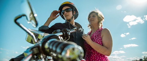 "Kim Scarfe and Jessica Elwell in ""Alley Boy"""