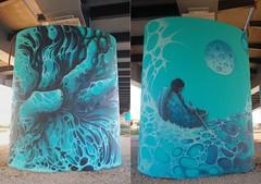 Cole (tomatokid99) Tags: graff graffiti streetart art urbanart lattes autoroute a9 pilier cole fresque