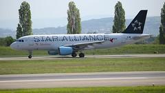 OE-LBX (Breitling Jet Team) Tags: oelbx star alliance cs austrian airlines euroairport bsl mlh basel flughafen