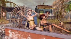 Blueberry Bayou Babes (Duchess Flux) Tags: fameshed shinyshabby uber meshbodyaddicts gachagarden blueberry wasabipills kinglers supernatural emarie white~widow catwa deetalez tableauvivant lagyo theskinnery kei harshlands airboat fantasy swamp boyou secondlife sl