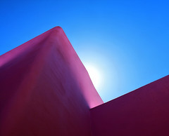 Dawning (studioferullo) Tags: abstract architecture art beauty bright building colorful colourful colors colours contrast dark design detail downtown edge light minimalism outdoor outside perspective pattern pretty scene serene tranquil shadow sky study sunlight sunshine street texture tone weathered world sedona arizona oakcreek sun blue purple angle diagonal lines glow corner