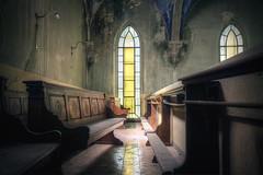 Magické okno (Michal Seidl) Tags: abandoned church abbandonato chiesa monastero monastery klášter kostel opuštěný kaple chapel blue hdr urbex canon italy