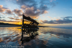 lt-080-SS1601230_62872 (LDELD) Tags: peter iredale fort stevens graveyard pacific sunrise ocean beach shipwreck clouds sand waves reflections morning dawn clatsop oregon sea water sky