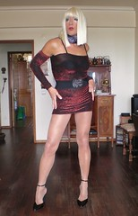 Karen (Karen Maris) Tags: tgirl tgurl tg karen legs pantyhose tranny trannie heels transvestite transsexual transgender crossdress crossdresser tights blonde highheels stilettos