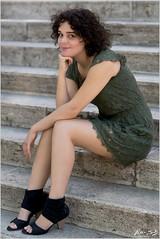 Kata sitting on Stairs (Peter Heuts) Tags: kata photoshoot photo shoot budapest boedapest hungary hongarije peterheuts peter heuts photography fotografie sony full frame sal85f14z carlzeiss a99m2 a99mark2 dress jurk kleid