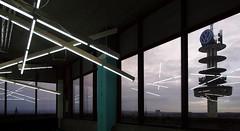 Hannover Skyline (IV) [EXPLORE 2017-08-27] (pix-4-2-day) Tags: brederohochhaus neonröhren neon lights reflection reflexion windows fenster panoramafenster fernsehturm listertor hannover hanover vwtower telemoritz raschplatz view ausblick skyline himmel sky height höhe lines linien architektur x striplights strip pix42day