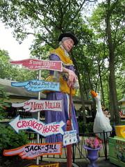 This Way (BunnyHugger) Tags: amusementpark eggharbor mothergoose newjersey signposts statue storybookland