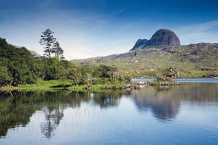 Suilven and Loch Druim Surdalain