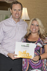 Scott and Holly accepted our WellBusiness award on behalf of the office.