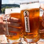 Prost: Anstoßen mit Staropramen Bier in Prag thumbnail