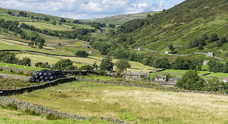 Swaledale landscape and it's Numerous Barns.