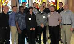 Seminarians with Fr. Brian Welter, who directed their retreat over Labor Day weekend at Villa Maria, PA - August 2017