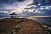 Dawn at Pantai Karang (V I J U) Tags: 2017 asia bali fujifilmxt20 indonesia sept travel vijujose xt20 sanur beach sunrise dawn landscape sky clouds pantaikarang