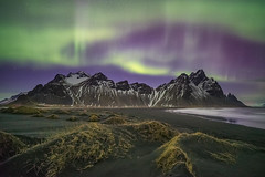 'A Stellar Show' - Stokksnes, Iceland (Kristofer Williams) Tags: aurora auroraborealis northernlights night sky stars astro astrophotography landscape nightscape beach coast mountains vestrahorn sanddunes stokksnes iceland