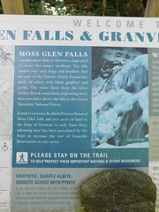 Moss Glen Falls Sign (jimmywayne) Tags: waterfall mossglenfalls addisoncounty vermont landscape scenic deerhollowbrook