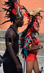 DSC_2676a Notting Hill Caribbean Carnival London Exotic Colourful Red Costume Showgirl Performer Aug 28 2017 Stunning Petite Lady (photographer695) Tags: notting hill caribbean carnival london exotic colourful costume showgirl performer aug 28 2017 stunning lady darn it he got way she is one few slim girls petite