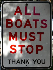 ALL BOATS MUST STOP (phunnyfotos) Tags: phunnyfotos australia victoria vic cityofcasey tooradin boats boating sign warningsign allboatsmuststop stoptheboats nikon 2017 boatfees boatramp foreshore coast coastal fishing westernportbay seaside d500 nikond500 red