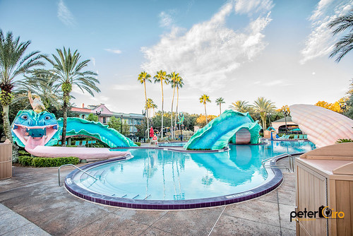 Pool at Disney's Port Orleans French Quarter - 51 foot Sea Serpent with Water Slide.