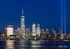9/11 Tribute in Light - New York City 2017 (Kofla Olivieri) Tags: september11 tributeinlight manhattan downtown landmark newyorkcity koflaolivieri topazadjust adobephotoshopelements hudsonriver jerseycity worldtradecenter exchangeplace freedomtower nyc 911remembranceday 911 2017 long exposure