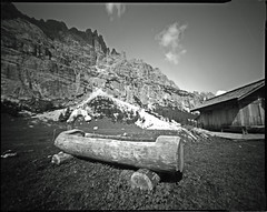 il brento ;/) pinhole 4x5 (schyter) Tags: stenopeica pinhole 4x5 sheet foma fomapan100 lf long exposure homemade camera development homemadescanned developer tank taco metod elastic hair epson v600 kodak rapid fixer photoflo stopbath dolomiti dolomites 100iso 1200dpi alternative ampezzo analogic analogica belluno bw cirmolo cortina cortinadampezzo adox adonal 150 estate f182 film orientali photoflo200 photography pinocembro prewash2min scozia stenopeico twoscanned unesco veneto wood allaperto bianco e nero albero pianta montagna paesaggio