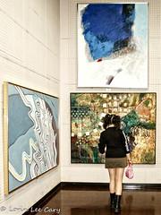 Modern Art 2 (lorinleecary) Tags: pinkpurse girl trips artmuseum modernart shortskirt youngwoman japan tokyo